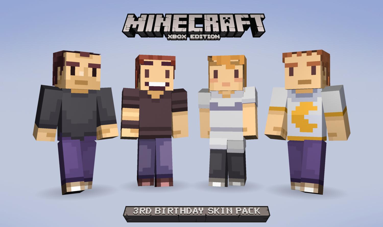 Celebrate Minecraft Xbox Editions Birthday With Some Free - Minecraft skins fur xbox 360
