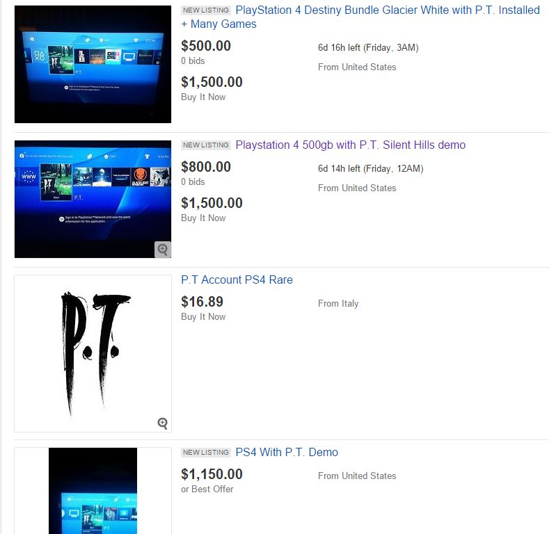 You can still find many listings of PS4s with Silent Hills P.T. on eBay -  VG247