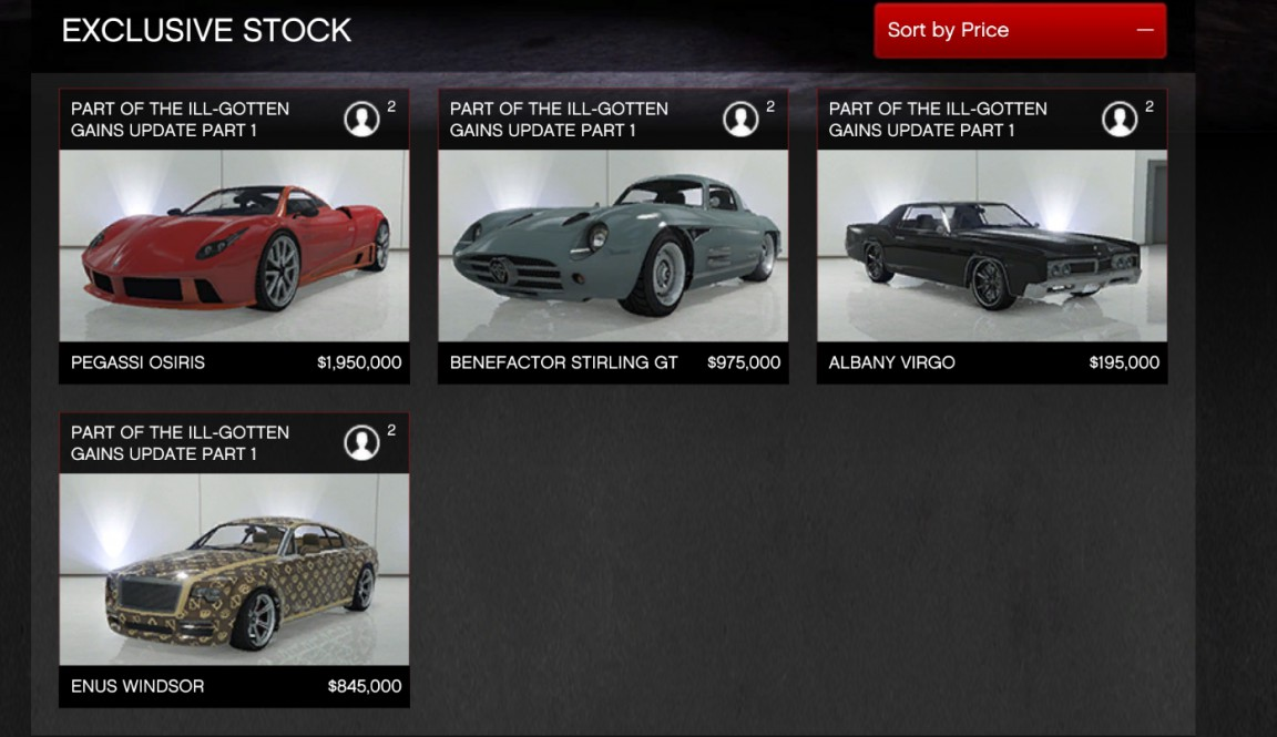 GTA 5: all Ill-Gotten Gains DLC vehicles will cost you $19m - VG247