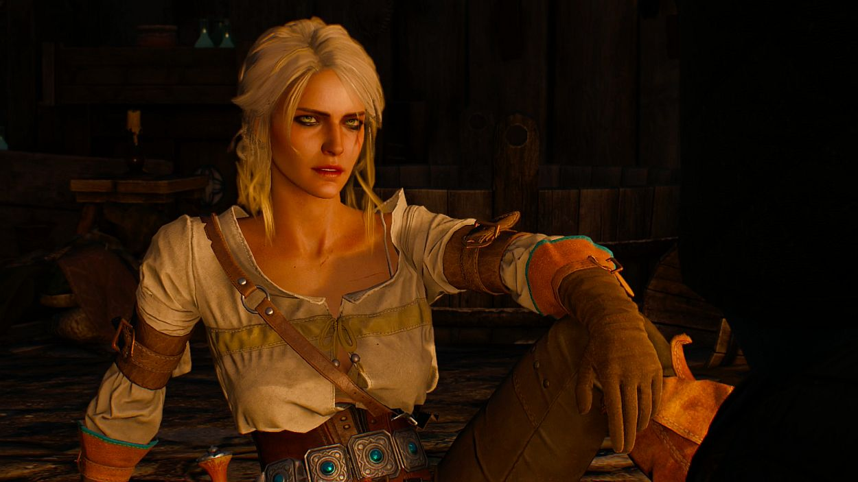 "Rumors of her ""father's"" inept performance elicited a look of derision from  Ciri."