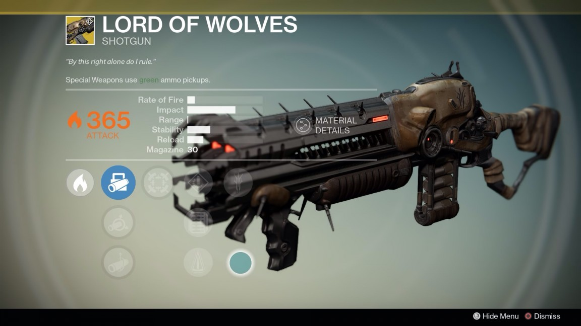 Lord of Wolves shotgun