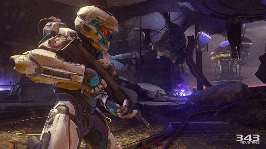 Halo 5 campaign played in a fireteam of four, revives