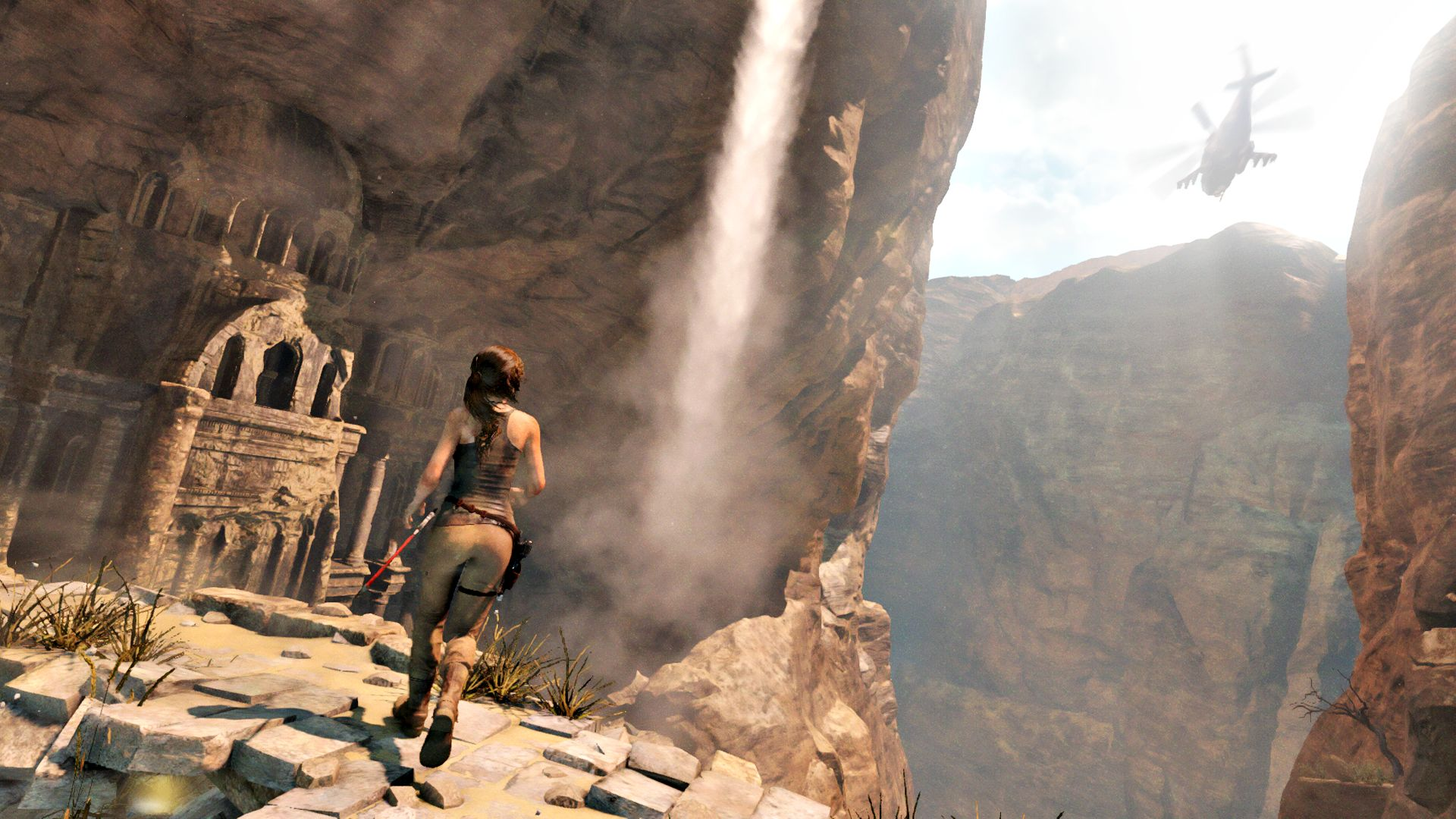 New Rise Of The Tomb Raider Gameplay Shows New Level Tomb Raiding