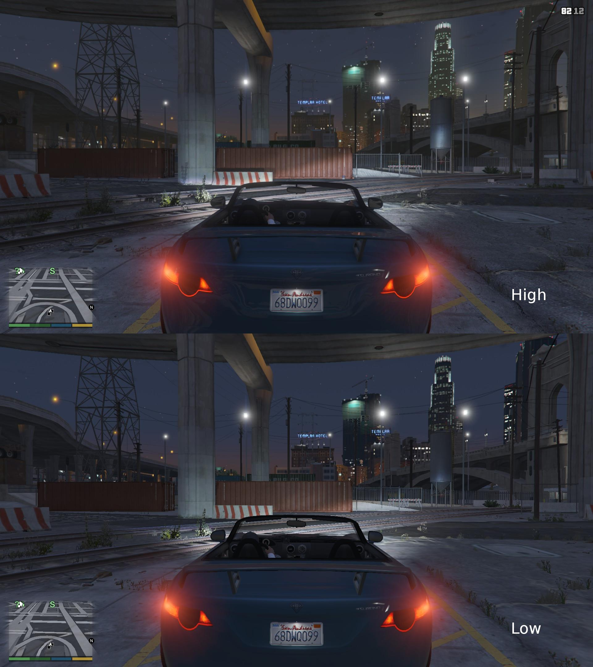 GTA 5 PC high and low settings comparison may result in