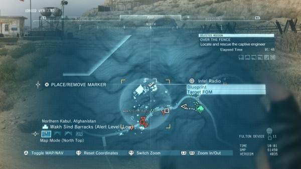 METAL GEAR SOLID V: THE PHANTOM PAIN_over the fence blueprints