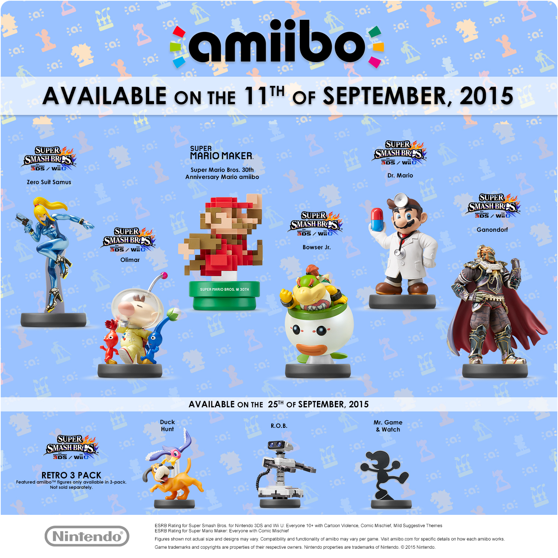 Zero Suit Samus Ganondorf Rob Duck Hunt Amiibo Coming In Nintendo Switch Red Blue Bundle 2games 2amiibo Sept Final 1
