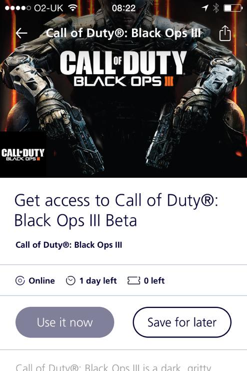 If You Re An O2 Customer You Can Get A Call Of Duty Black Ops 3