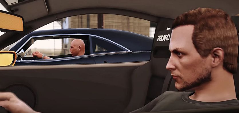 GTA 5 video recreates The Fast and the Furious race scene with the train - VG247
