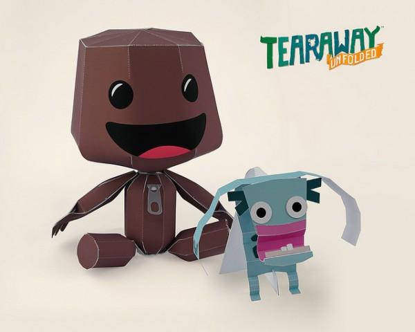 tearaway unfolded papercraft sackboy