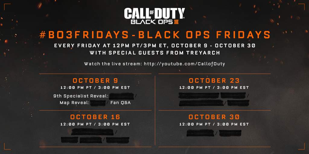 Treyarch is revealing new Call of Duty: Black Ops 3 details