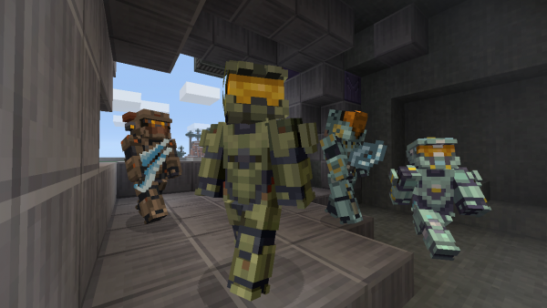 Halo S Master Chief And Locke Get Minecraft Skins VG - Skins para minecraft pe halo