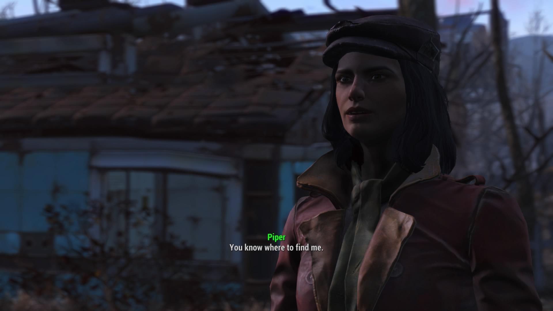 Fallout 4 flirt with piper charisma [PUNIQRANDLINE-(au-dating-names.txt) 66