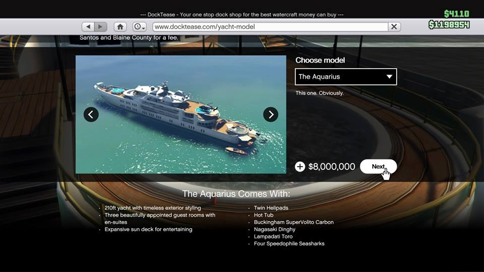 GTA Online: VIP modes, yacht details, hot tubs - everything included ...