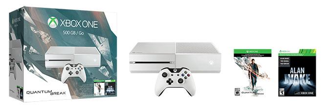 XboxOne_500GBWhiteConsole_QuantumBreak_US_CAN_Groupshot_RGB
