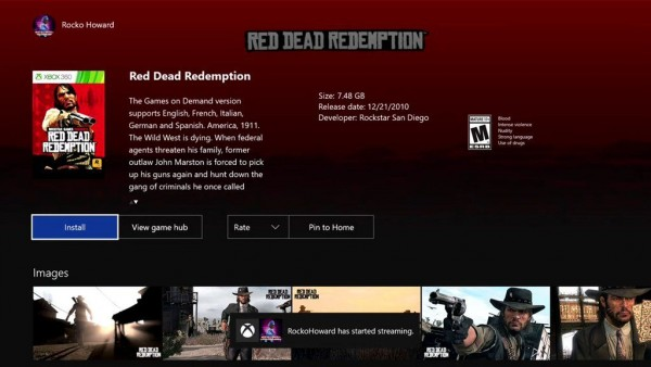 rdr-xbox one