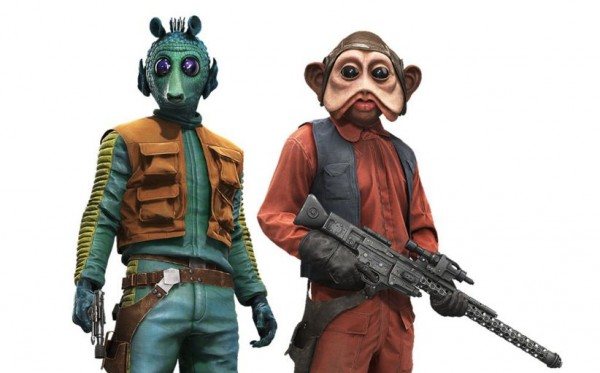 New heroes Greedo and Nien Nunb