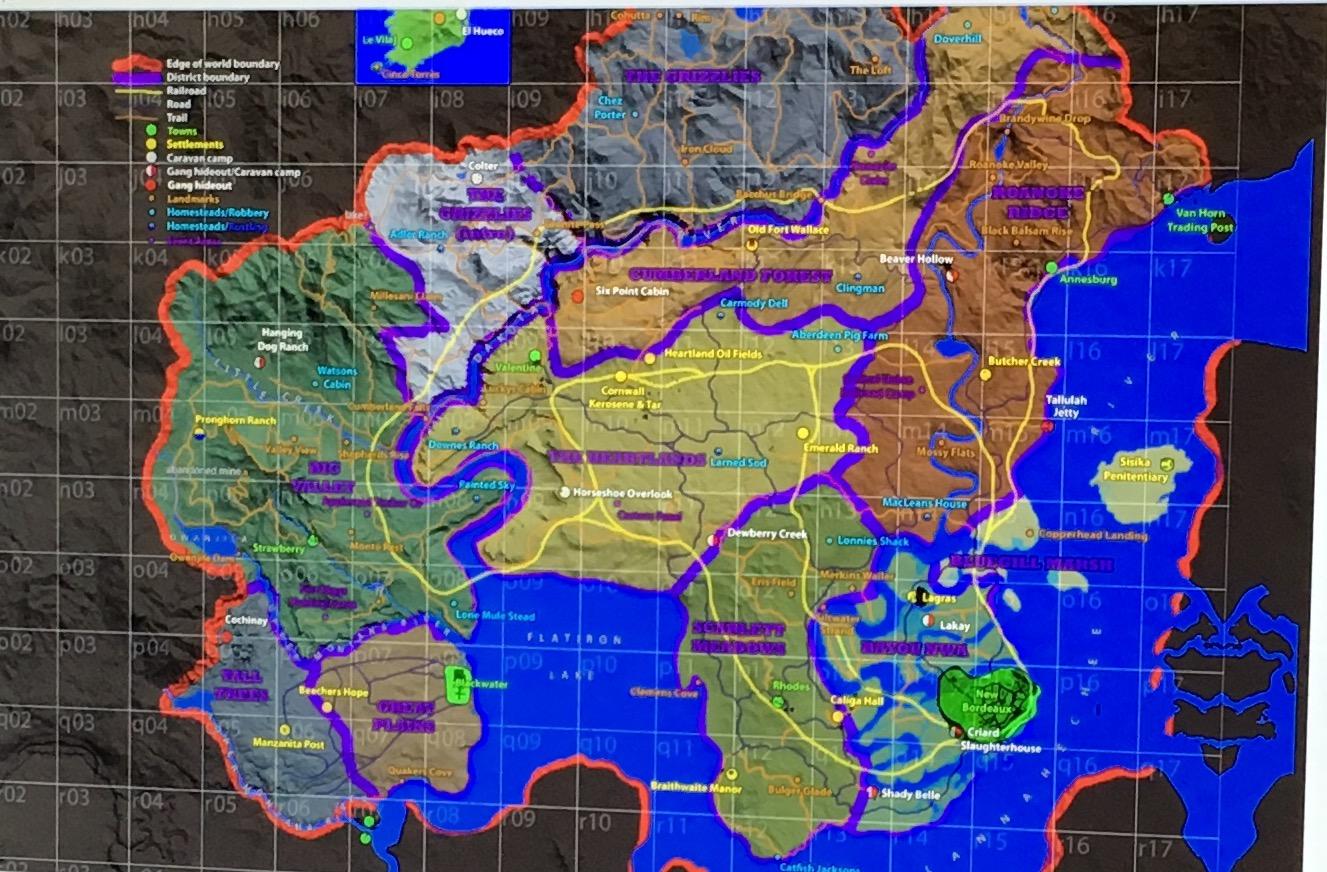 Red Dead Redemption 2 map leak hi-res