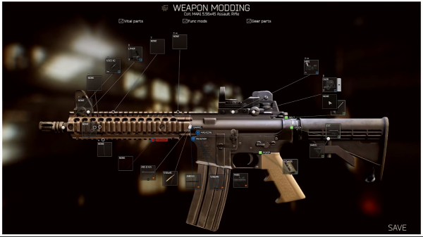escape from tarkov weapon customisation