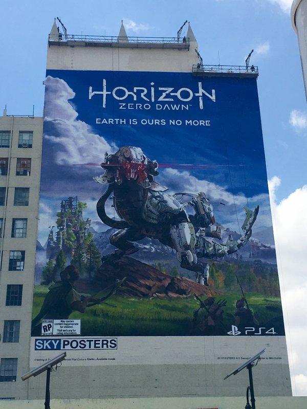 Big Horizon Zero Dawn Poster Spotted In Downtown La Vg247