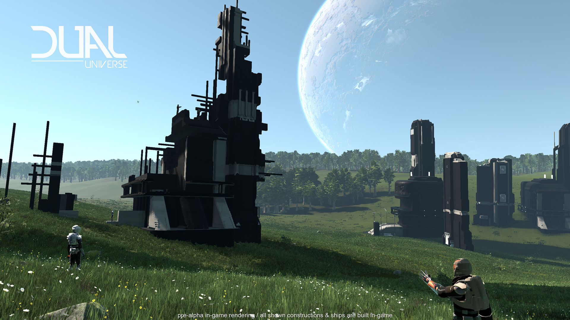 Dual Universe combines sci-fi star systems and Minecraft