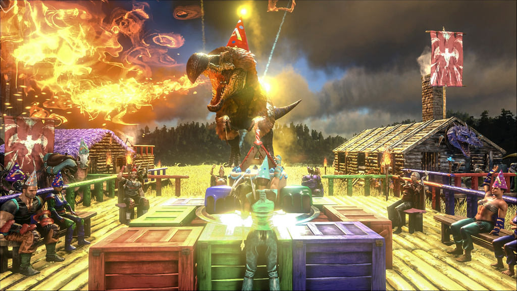 Ark: Survival Evolved Update Adds New Creatures, Dragon Boss And Birthday  Fun   VG247