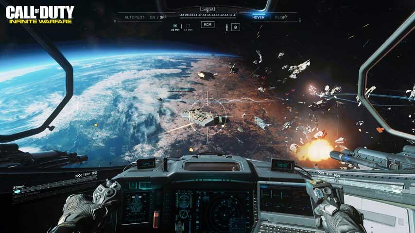call of duty infinite warfare ship assault space combat