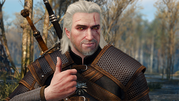 geralt thumbs up