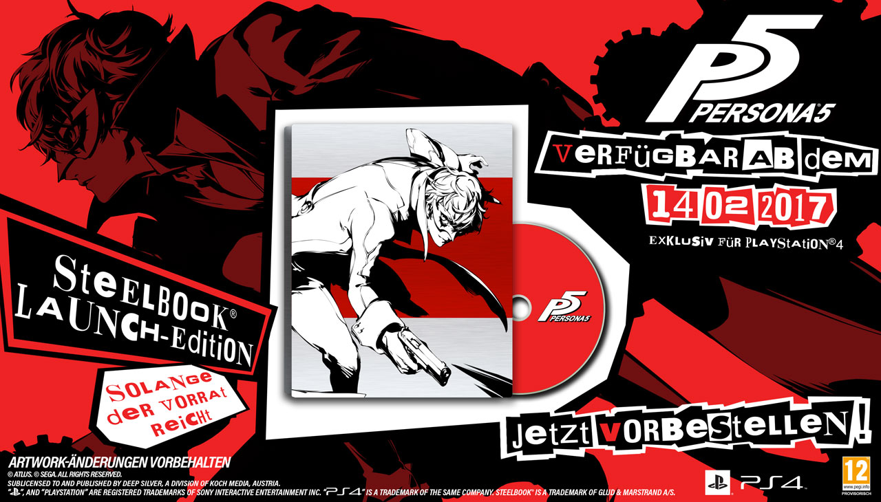 Persona 5 Coming to New Zealand This Valentine's Day