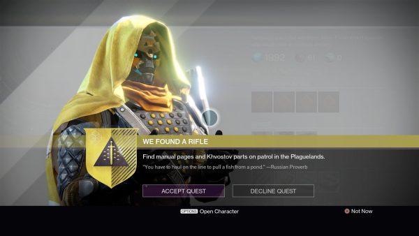 destiny we found a rifle mission