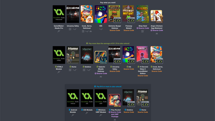 Humble GameMaker Bundle Now Available