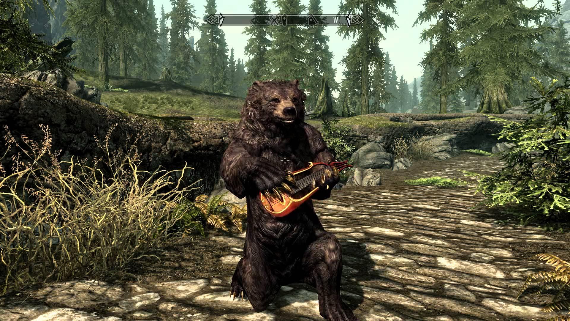 skyrim bear musician