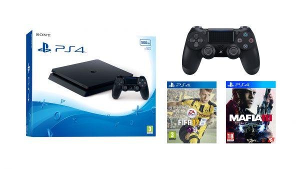 PS4 with pad FIFA and Mafia