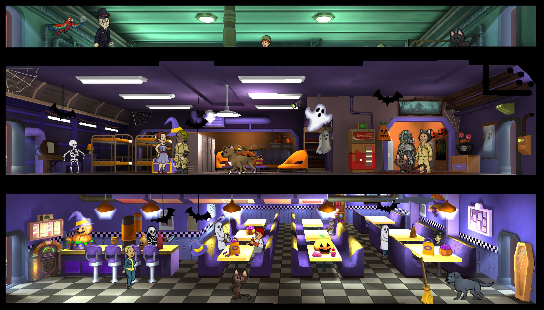 Fallout Shelter Halloween Update 2020 Fallout Shelter update adds faction themes, holiday celebrations
