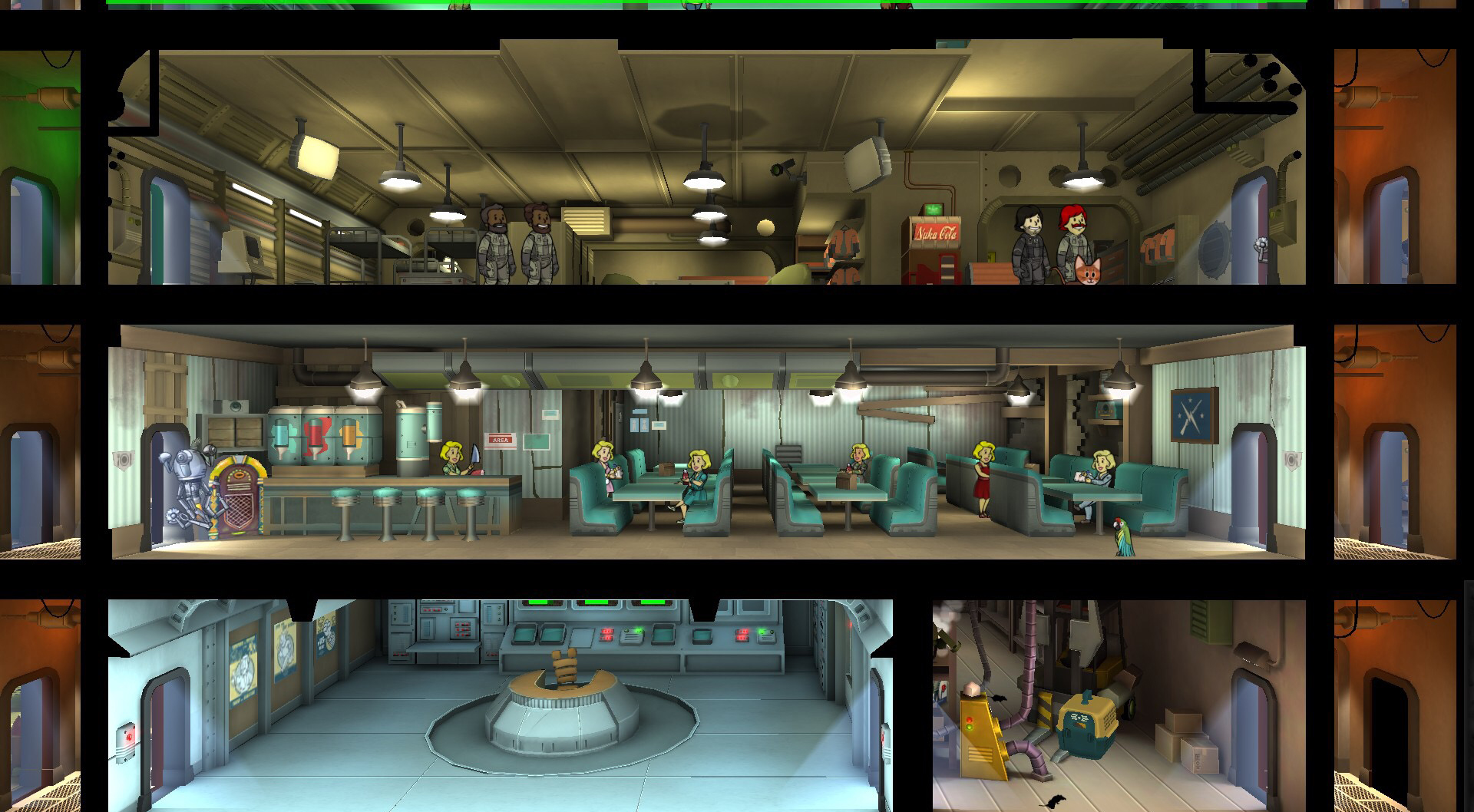 Fallout Shelter Updated With Theme Workshop, Room Themes