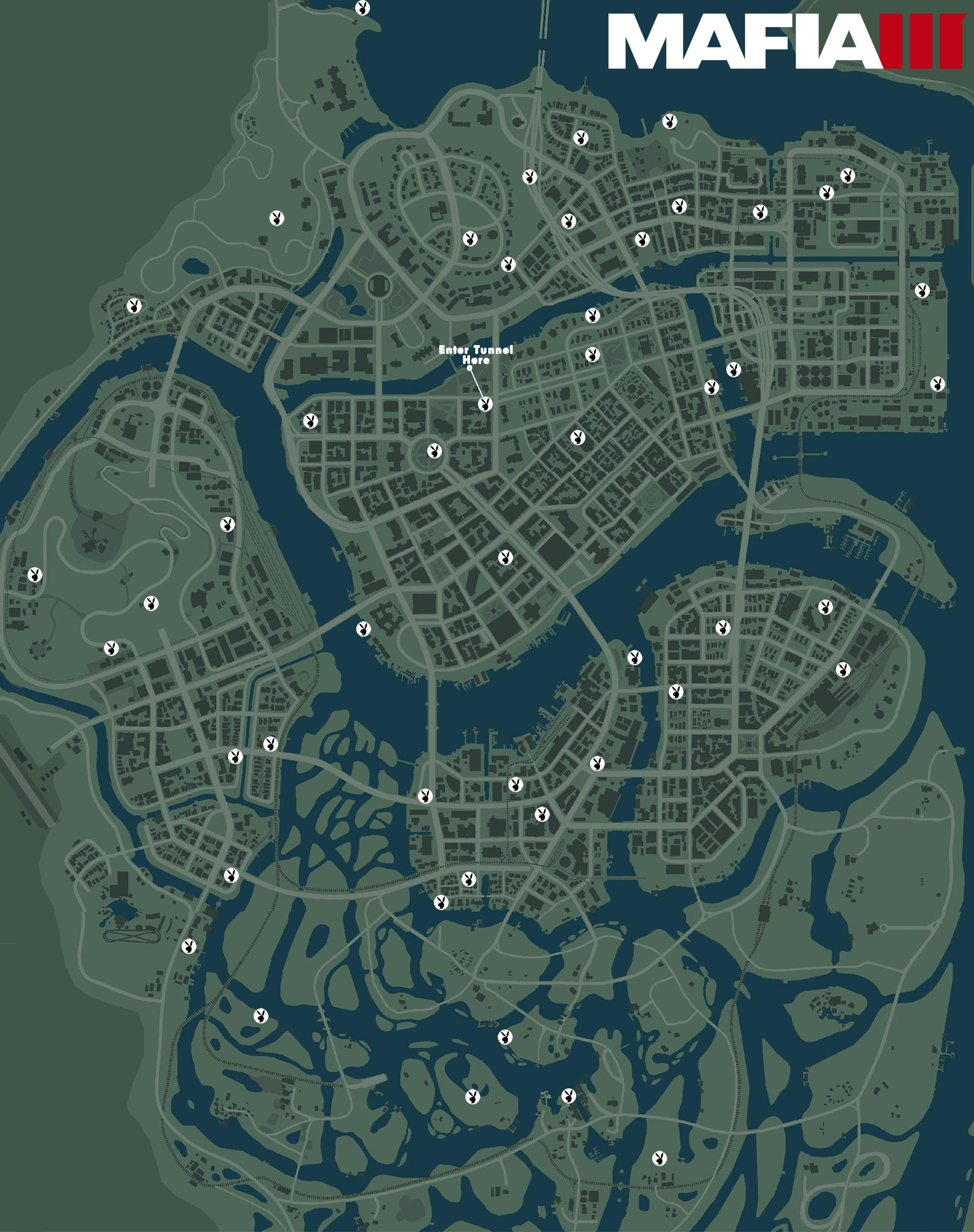 Mafia 3 map shows the location of every playboy magazine collectible mafia 3 playboy locations gumiabroncs Images