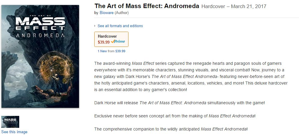 mass effect andromeda artbook date leaked