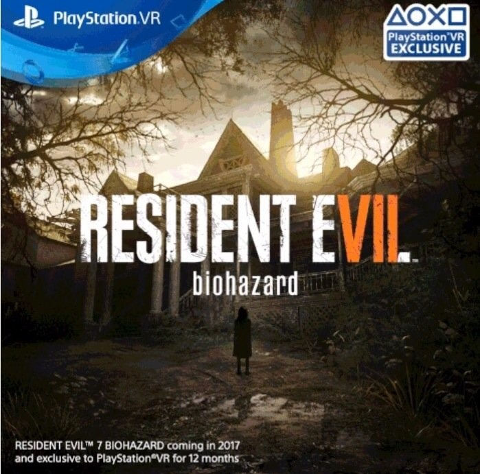 resident evil 7 psvr 12 month exclusive