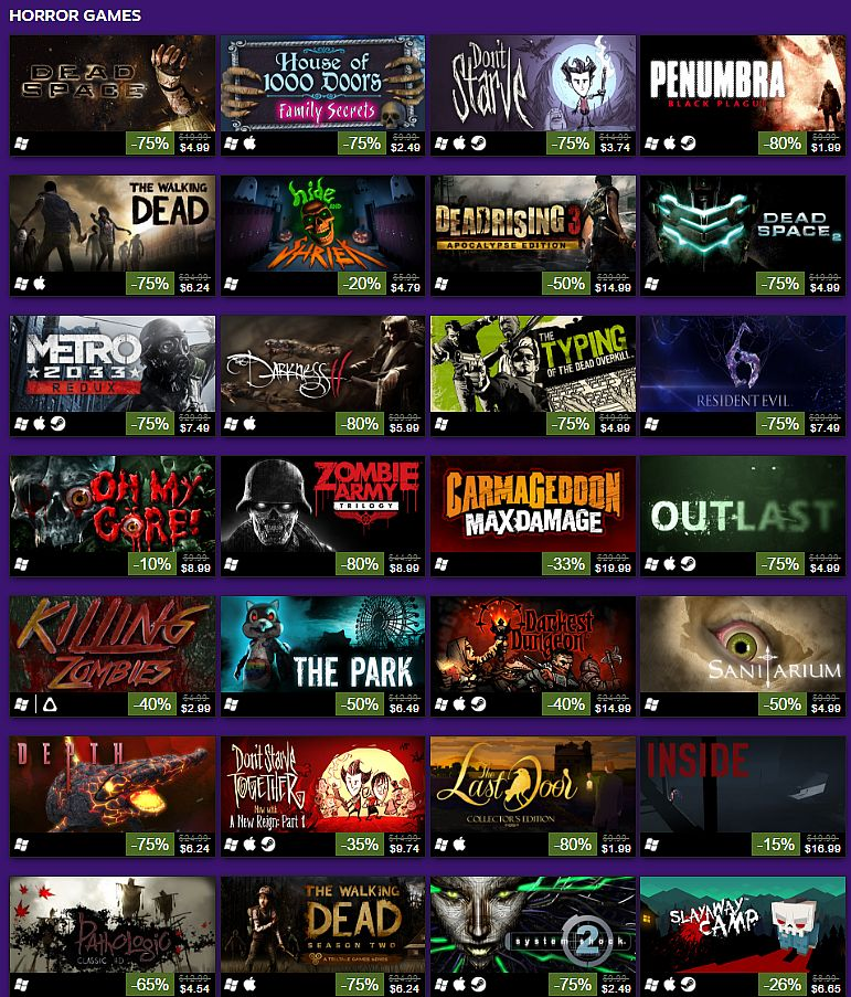 The Halloween Sale is live on Steam with tons of horror games on ...