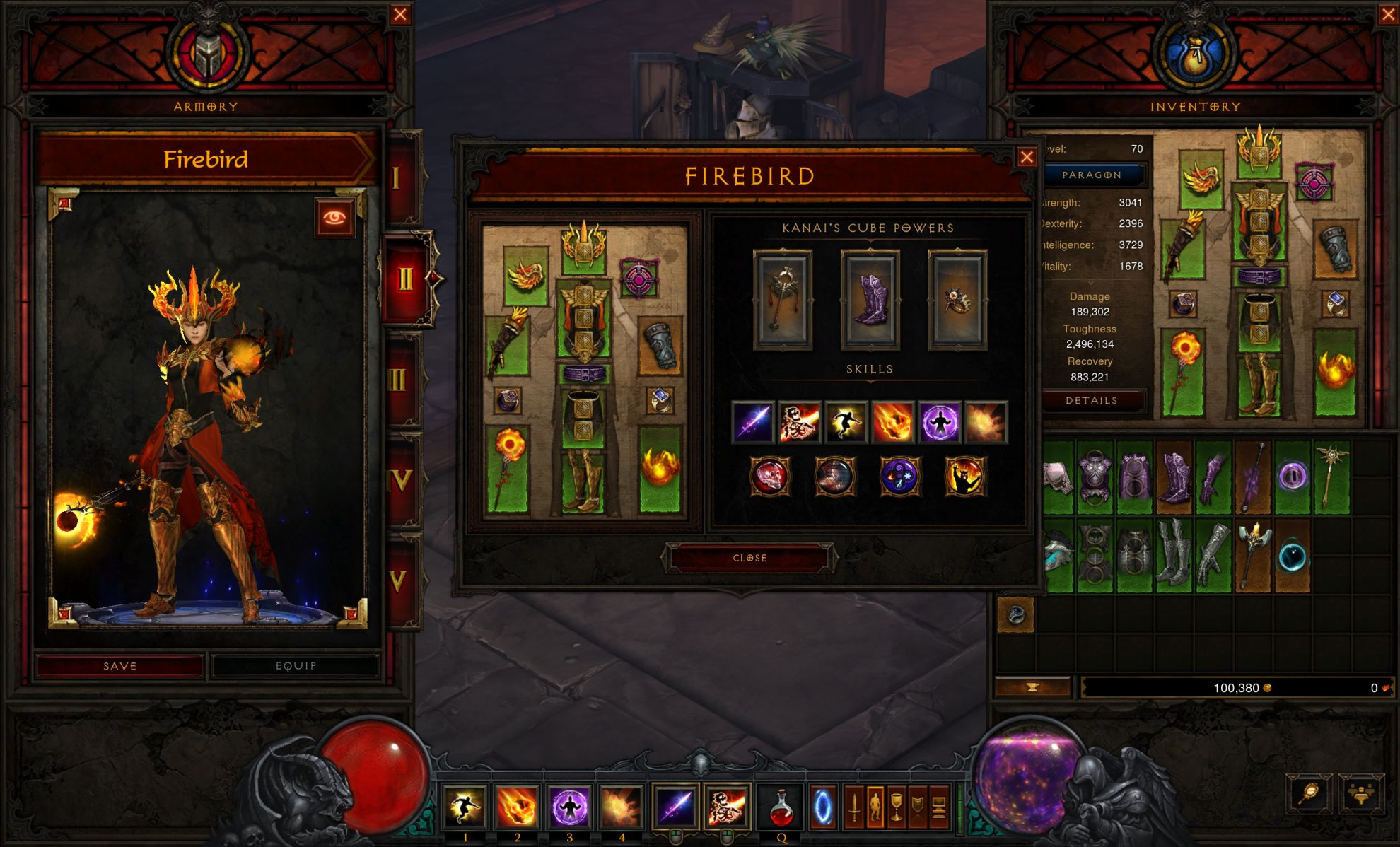 Diablo 3's new Armory will let you swap gear, skills, gems