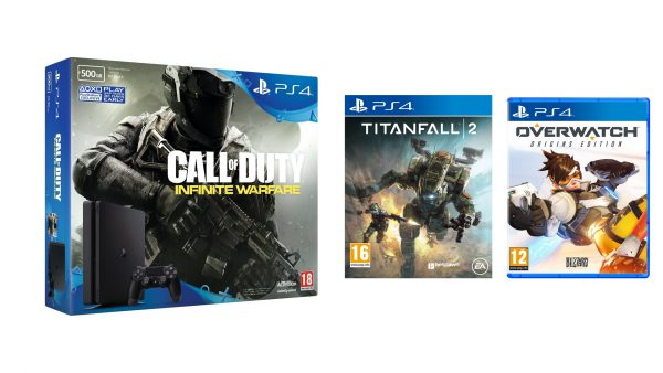 PS4 With COD Titanfall Overwatch