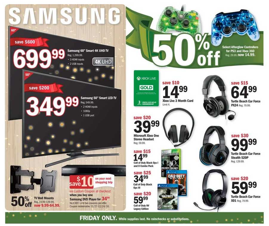 fabf31a91fe6e Meijer Black Friday 2016 deals - save  10 on Xbox Live subs