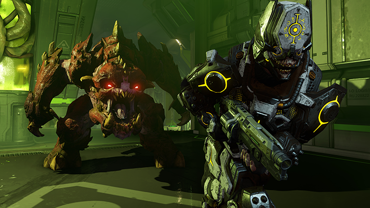 DOOM's Final DLC Bloodfall Available Now, Double XP Weekend Announced