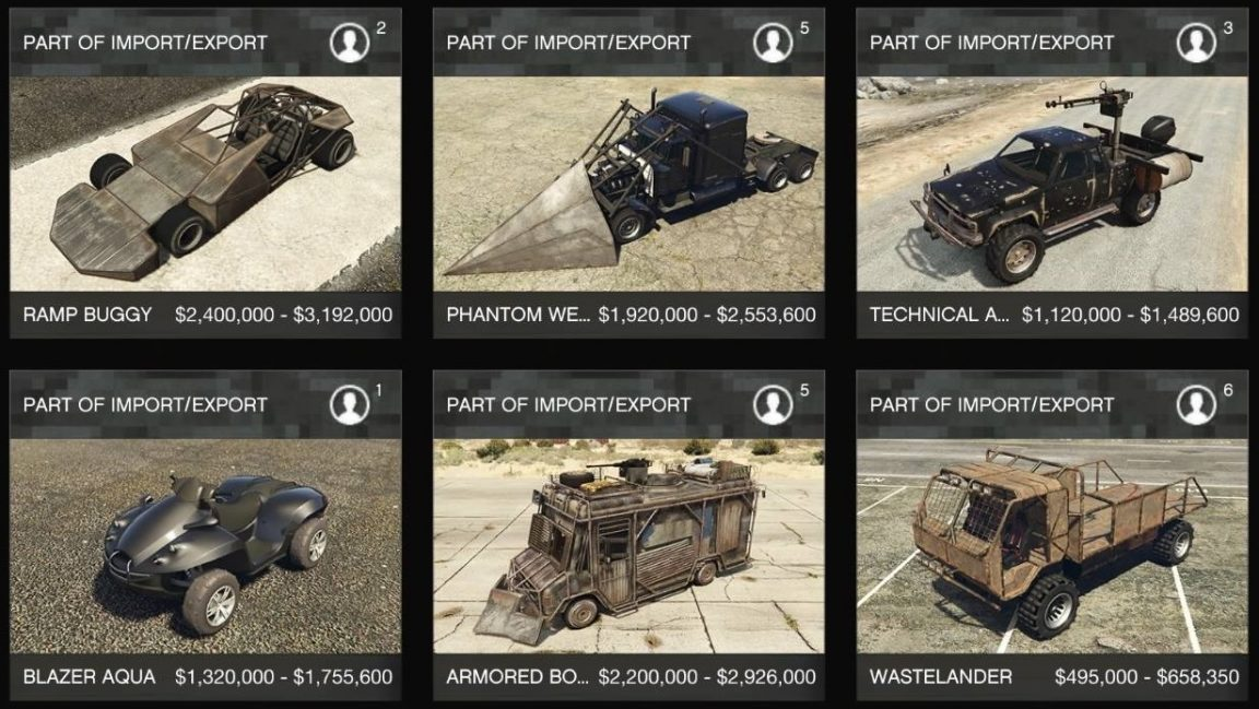 GTA Online Import/Export guide: how to get the Wastelander