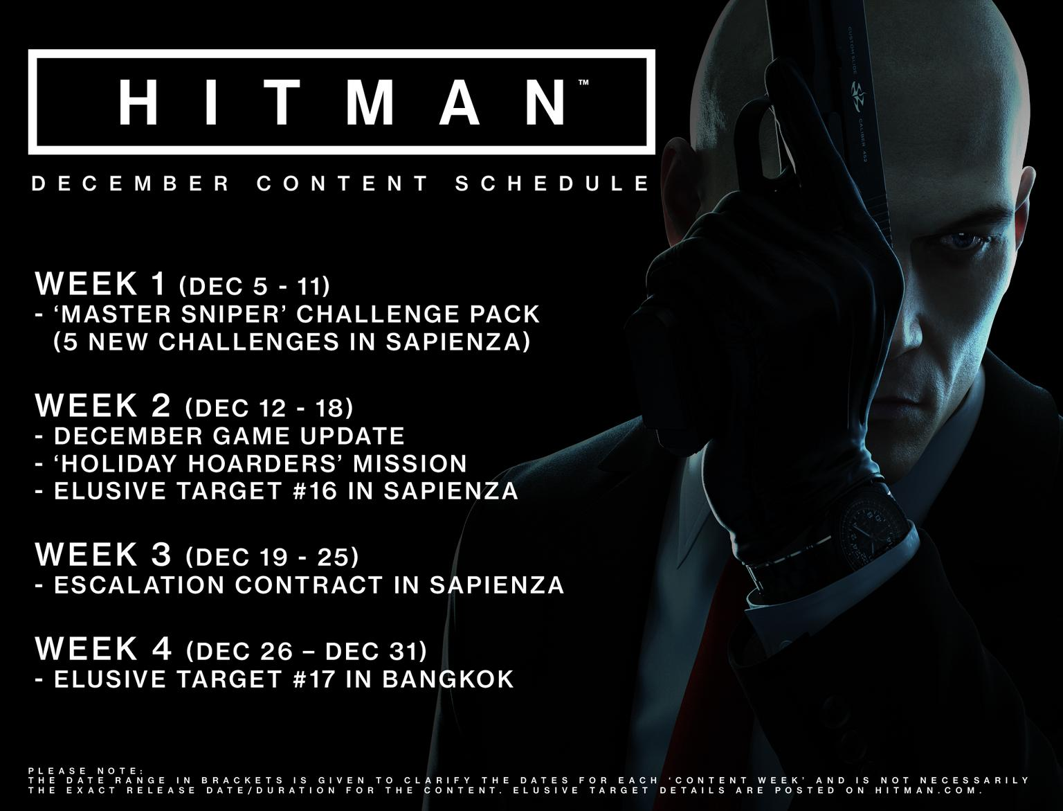 Hitman is Getting Free Holiday Content Next Week