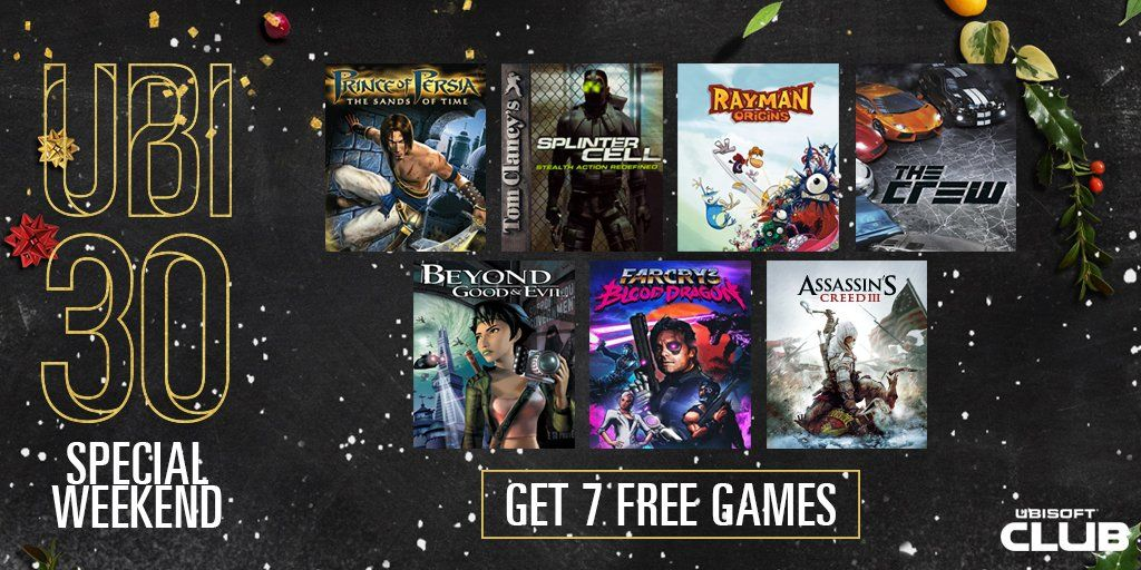 If you missed out on any of the free Ubisoft30 games you can grab