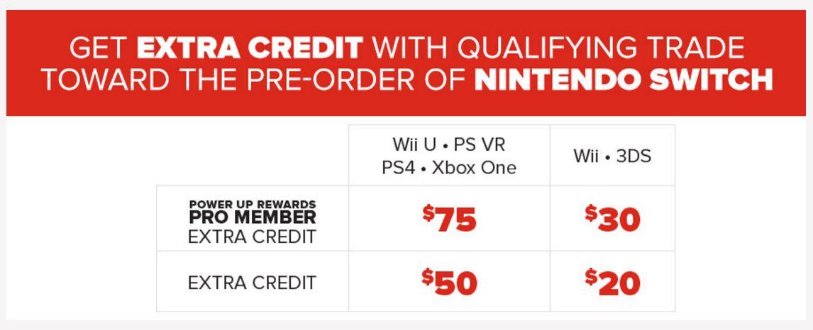 GameStop now taking Switch pre-orders, earn up to $75 bonus