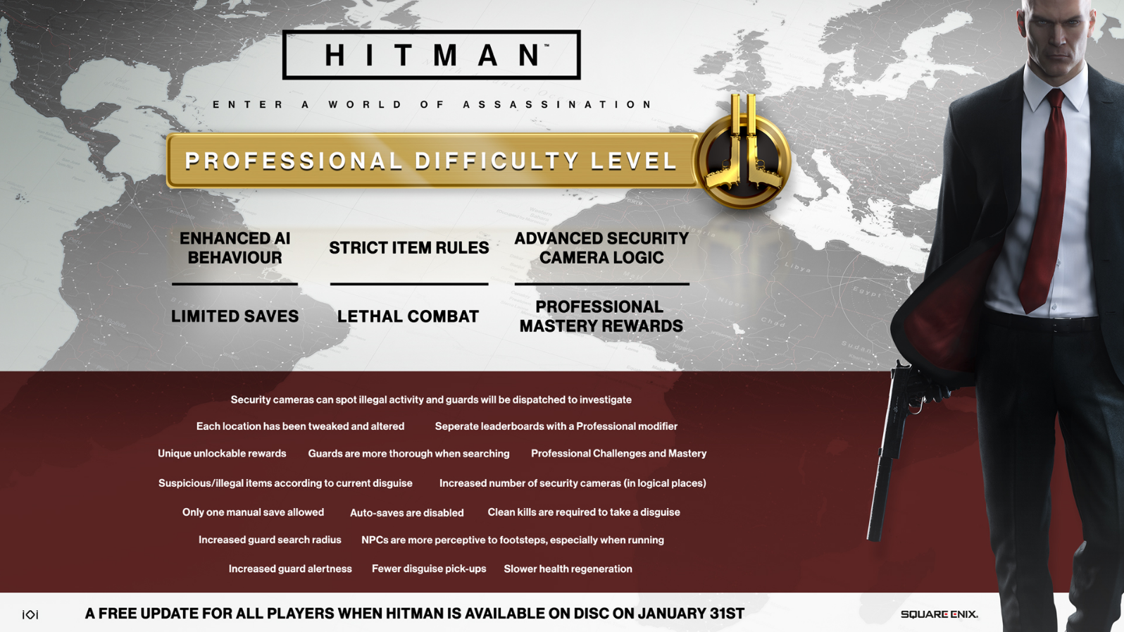 hitman professional difficulty level