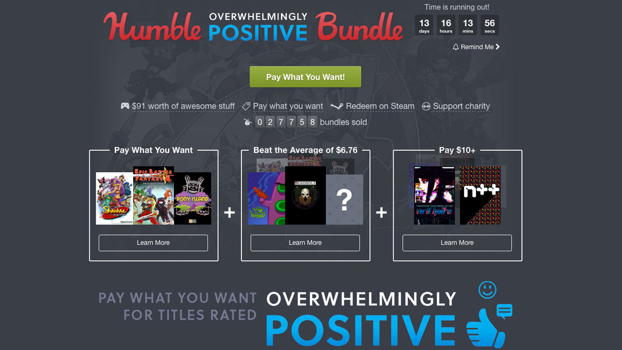 This week's Humble Bundle only includes games rated ...