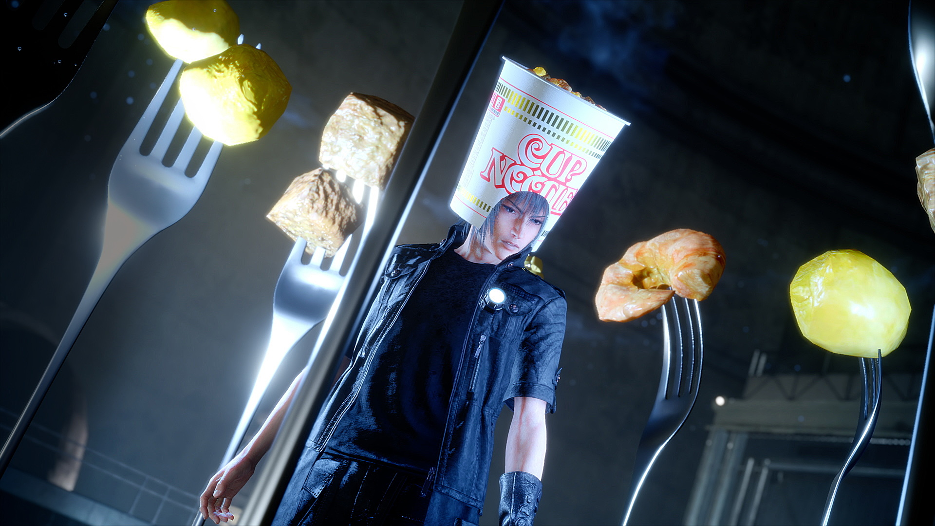 Final Fantasy XV is Getting a Cup Noodle Helmet for Noctis