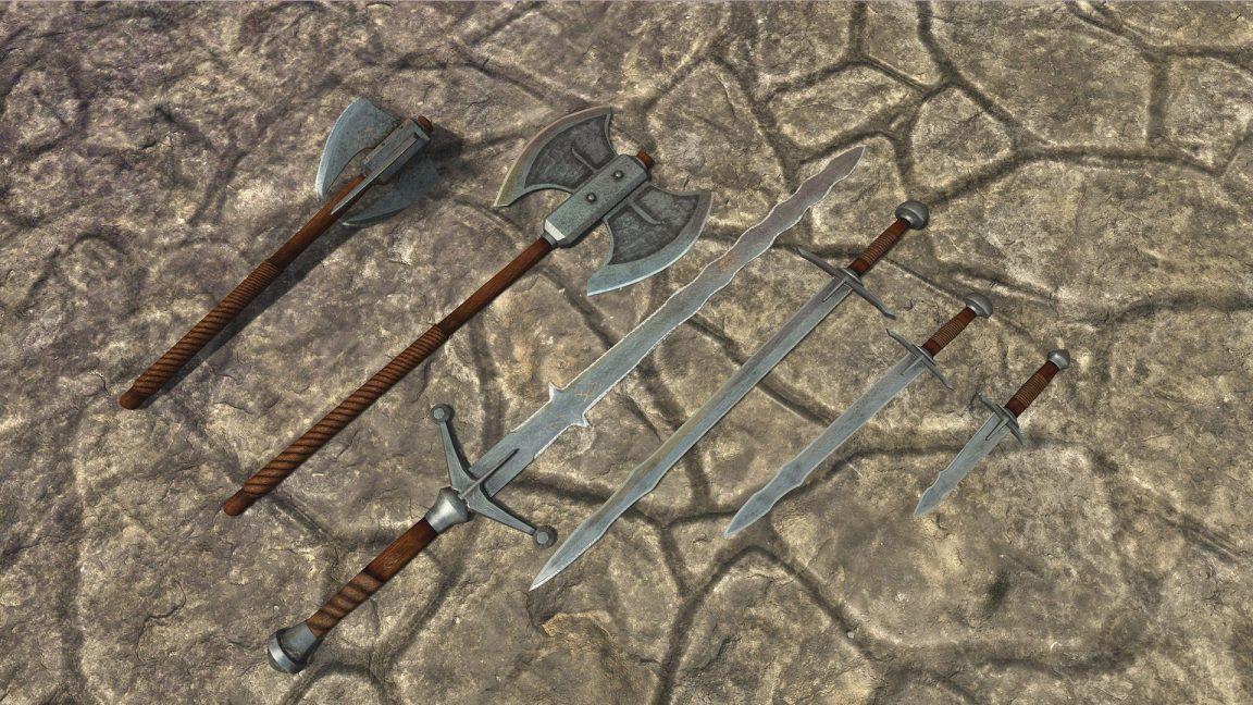 skyblivion_iron _weapon_set